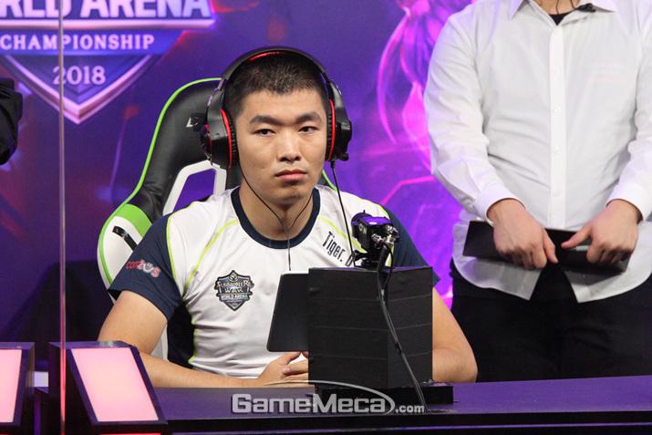 복덩이 아들과 함께 한국에 방문했으나, 악마적 전략의 쉔에게 패배한 타이거디 (사진: 게임메카 촬영)