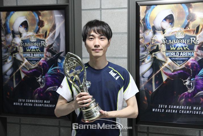 SWC 2018 우승자 빛대 (사진: 게임메카 촬영)