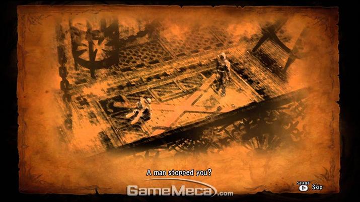 작은 이미지와 텍스트 몇 줄로 연출을 때운 '소울 칼리버 5' (사진출처: 게임 내 영상 갈무리)