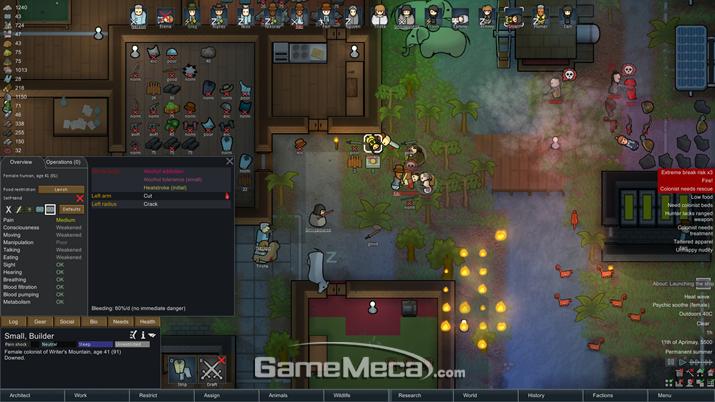 생존 시뮬레이션게임 '림월드'가 정식 출시됐다