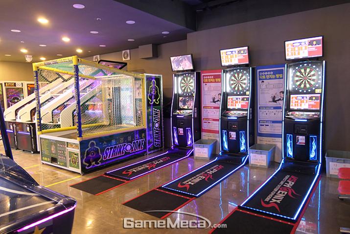 다트, 스크린야구, 농구 등 일반인들이 즐기기 좋은 게임도 한가득!