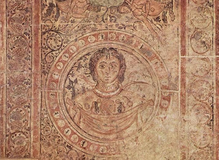 대지의 여신 '가이아'가 그려진 벽화 (사진출처: 위키피디아)
