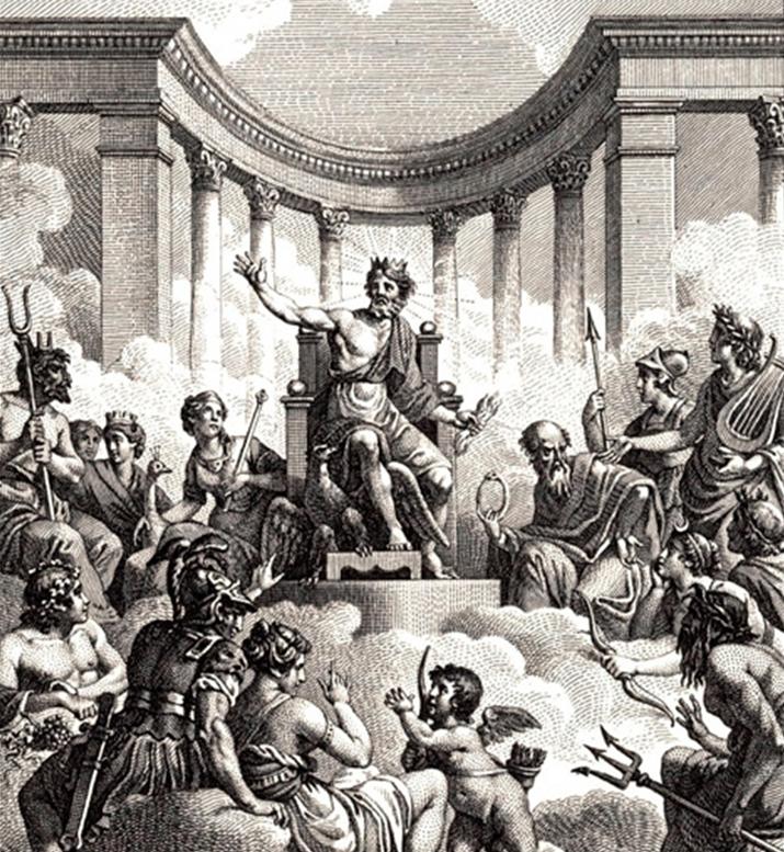올림푸스 12신을 묘사한 작품 (사진출처: 위키피디아)