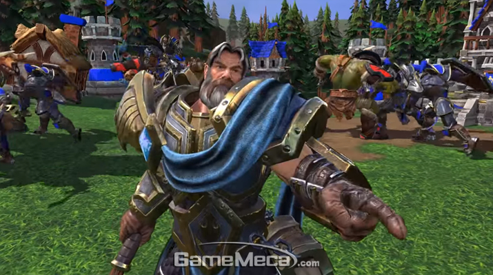 '워크래프트 3 리포지드' 플레이 스크린샷 (사진출처: 블리즈컨 생중계 영상 갈무리)