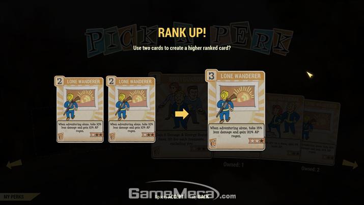 능력치에 따라 여러 개의 퍽 카드를 장착할 수도 있다 (사진: 게임메카 촬영)