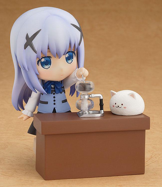 연출에 필요한 파츠가 다양하여 커피를 내리는 모습도 구현이 가능하다 (사진출처: 굿스마일컴퍼니 홈페이지)