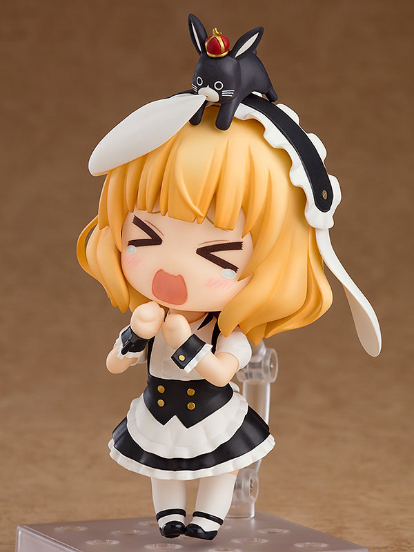 토끼공포증이 있어 토끼를 무서워하는 샤로, 겁에 질린 표정마저 귀엽다. 필자는 너무 귀여운 나머지 예약해버리고 말았다고… (사진출처: 굿스마일컴퍼니 홈페이지)