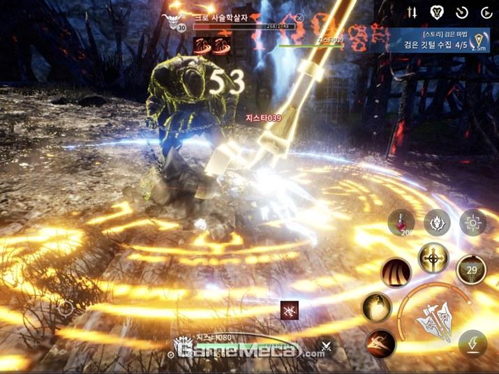 스킬 조작이 다양해 박진감 넘치는 전투가 가능하다 (사진: 게임메카 촬영)