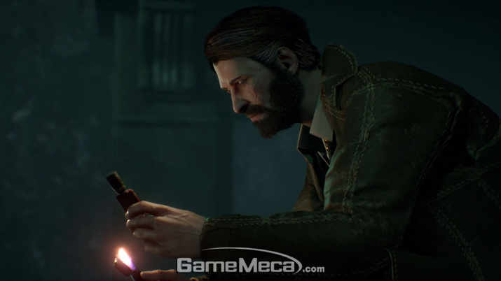 '콜 오브 크툴루'의 주인공 '에드워드 피어스' (사진: 게임메카 촬영)