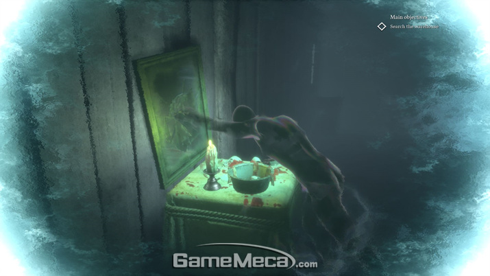 추리 과정을 게임으로 풀어낸 '재구성' 시스템 (사진: 게임메카 촬영)