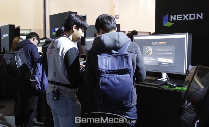 '지스타 2018' 넥슨 부스 전경 (사진: 게임메카 촬영)