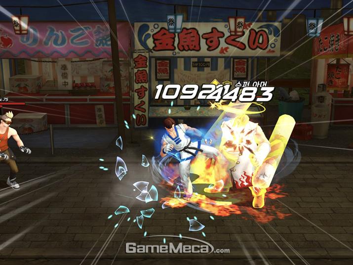 완연한 벨트 스크롤 액션게임으로 다시 태어난 'KOF'를 만날 수 있다 (사진: 게임메카 촬영)