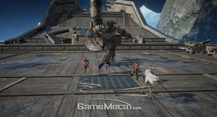 다수가 참가하는 보스 레이드 등 MMORPG의 요소와 콘텐츠가 풍부하다 (사진제공: 넷마블)
