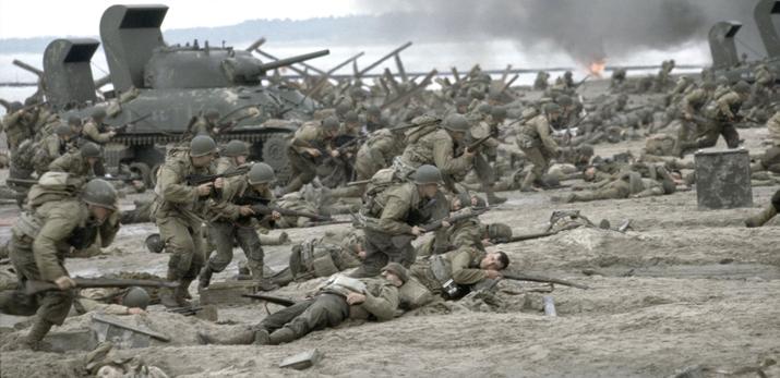 제2차 세계대전 콘텐츠 붐을 일으킨 영화 '라이언 일병 구하기' (사진출처: 네이버 영화)