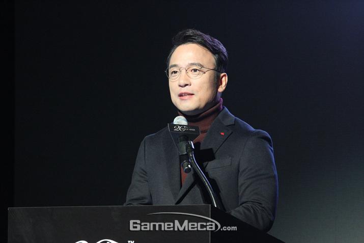 '리니지' 20주년을 소회한 김택진 대표 (사진: 게임메카 촬영)