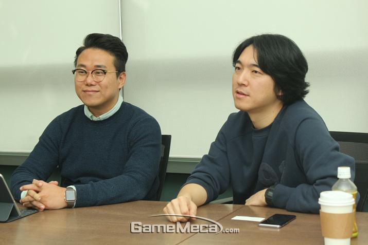 왼쪽부터 박준승 부장, 계동균 PD (사진: 게임메카 촬영)