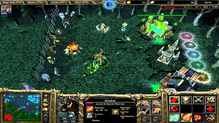 프랜차이즈의 시작점이 된 '워크래프트 3' 유즈맵 '도타' (사진출처: Nerdvile)