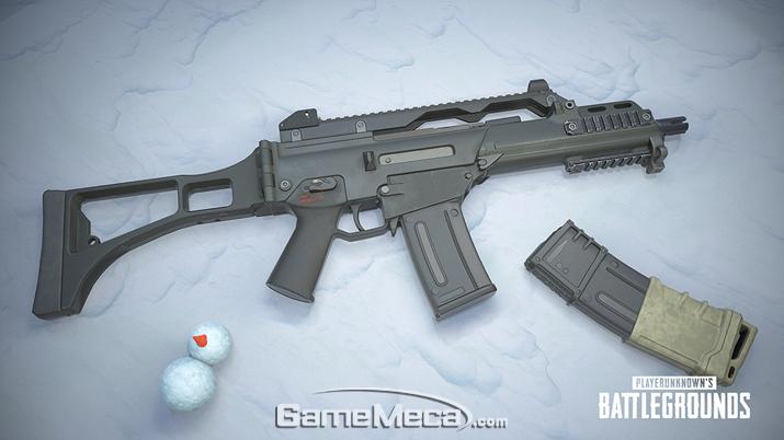 이번에 추과된 G36C는 중거리 교전에 특화된 총기다 (사진: 게임메카 촬영)