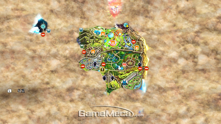 5시간을 열심히 돌아다니면 전체 맵의 이정도를 개방할 수 있다 (사진: 게임메카 촬영)