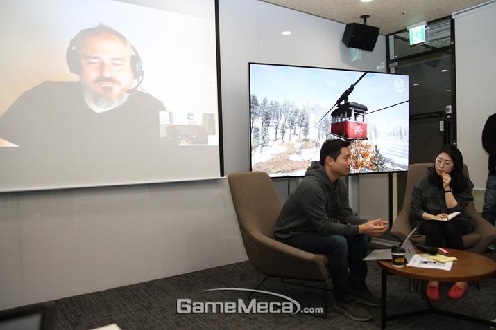 '비켄디'를 제작한 김태현 실장과 데이브 커드를 만나 이야기를 들어봤다 (사진: 게임메카 촬영)