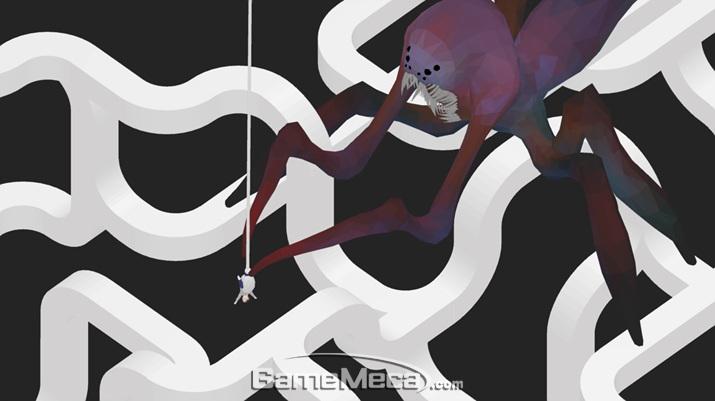 게임 후반부에는 거대 거미도 등장한다. 어떤 트릭아트 기법을 사용하는도 관전 포인트
