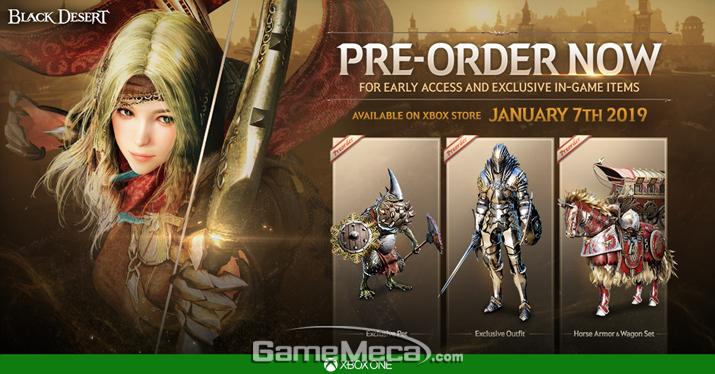 1월 7일 사전예약을 시작하는 '검은사막' Xbox 버전 (사진제공: 펄어비스)