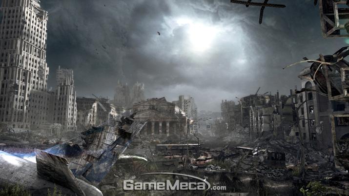 '메트로 2033'에 등장한 핵 전쟁으로 파괴된 모스크바 (사진출처: 스팀)