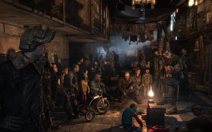 지하철역에 모여 공동체를 이루고 살아가는 생존자들 (사진출처: 메트로 위키)