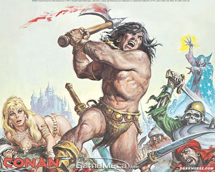 야만의 대명사이나 유독 게임업계에서는 입지가 약한 '코난' (사진출처: 다크 홀스 공식 홈페이지)