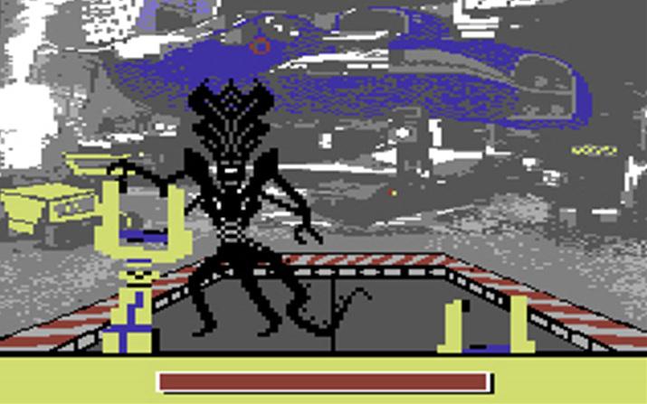 영화 클라이맥스를 그대로 연출한 '에이리언 2: 컴퓨터 게임' (사진출처: My Abandonware)