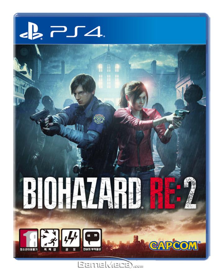 국내 정식 발매된 '바이오하자드 RE:2' PS4 버전 패키지 (사진제공: 게임피아)