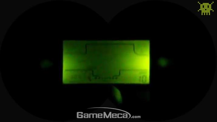 눈에 딱 붙이고 플레이하면 위와 같은 게임화면이 나타난다 (사진출처: 유튜브 PIXELKITSCH 채널 갈무리)