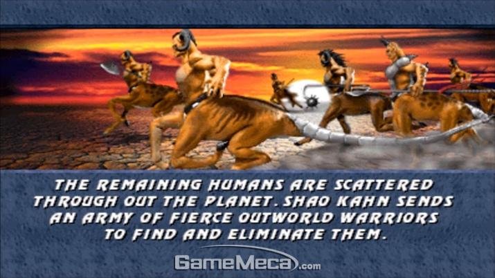 '모탈 컴뱃 3'에서도 세기말 켄타우르스가 지구를 질주하는 황당한 모습이 보였지만… (사진: 게임 내 영상 갈무리)