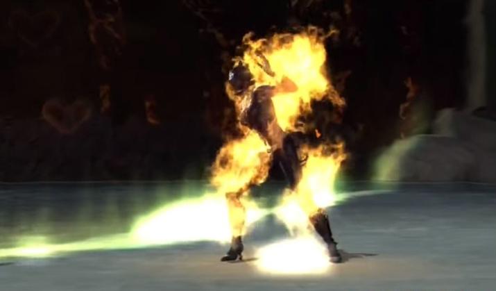 인기 캐릭터 '캣우먼'도 '페이탈리티' 앞에서는 가차없이 화형이다 (사진출처: '모탈 컴뱃' 위키)