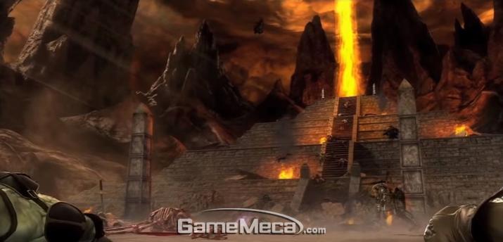 캐릭터가 둘 빼고 모두 죽은 상황에서 시작되는 '모탈 컴뱃(2011)' (사진: 게임 내 영상 갈무리)