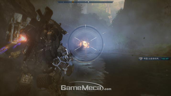 강력한 적에게는 궁극기로 공성포를 날려주면 된다 (사진: 게임메카 촬영)