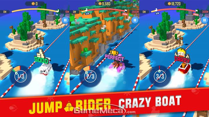 19일 출시된 모바일게임 점프 라이더: 크레이지 보트 (사진제공: 네오위즈)