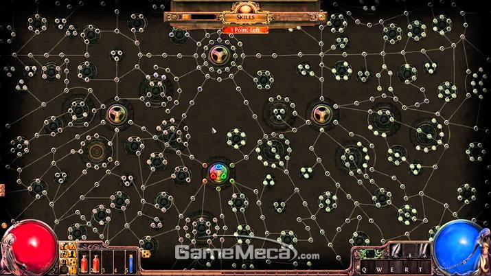 빌드의 자유도를 단박에 보여주는 스킬트리의 일부분 (사진출처: 게임 공식 홈페이지)