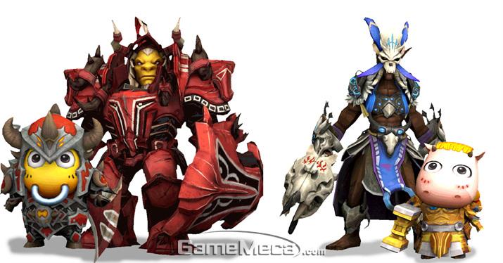 게임 내에 등장하는 두 가지 캐릭터를 자유롭게 번갈아가며 플레이 할 수 있다 (사진제공: 웹젠)