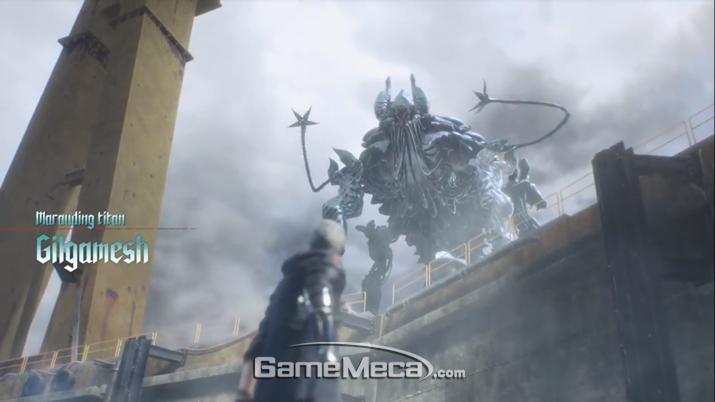 와이어 스내치가 있는 네로에게 적합한 거대 기계형 악마 (사진: 게임메카 촬영)
