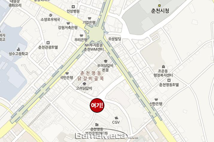 춘천 '컬쳐 스페이스' 약도 (사진: 게임메카 촬영)
