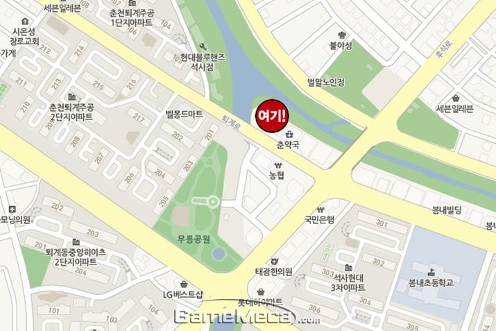 춘천 대원당 약도 (사진: 게임메카 촬영)