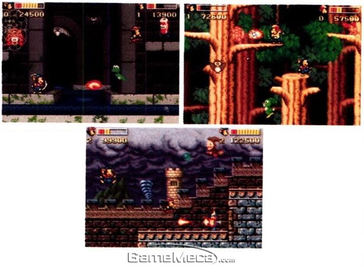 광고 하단의 '슈퍼트리오' 게임 스크린샷 (사진출처: 게임메카 DB)