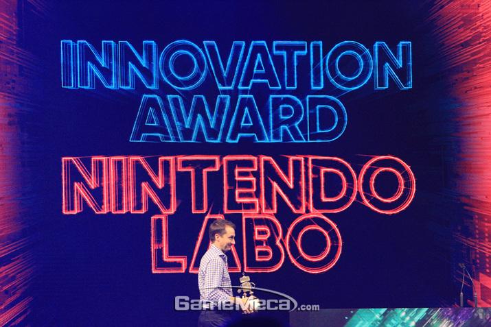 닌텐도 라보가 혁신상을 수상했다 (사진: 게임메카 촬영)
