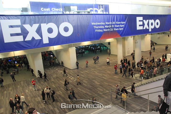 GDC 기간 모스콘 컨벤션 센터 지하에선 재밌는 일이 벌어진다 (사진: 게임메카 촬영)