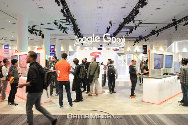 올해 행사의 주인공인 구글 스태디아 (사진: 게임메카 촬영)