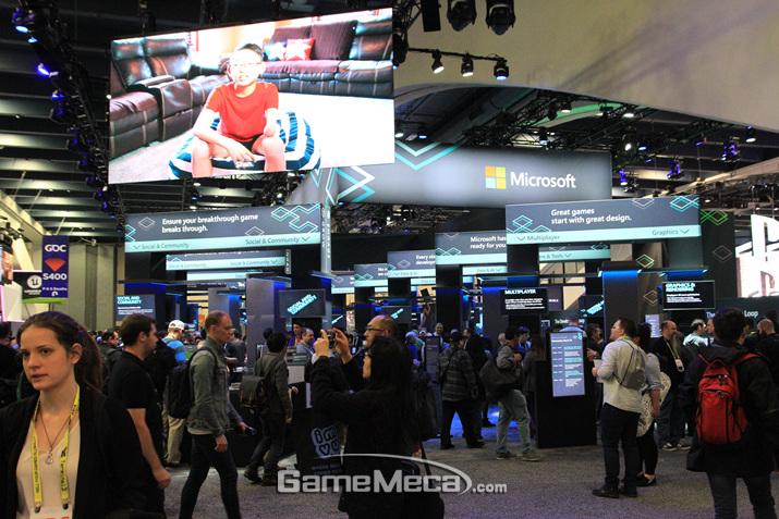 마이크로소프트도 물론 참전 (사진: 게임메카 촬영)