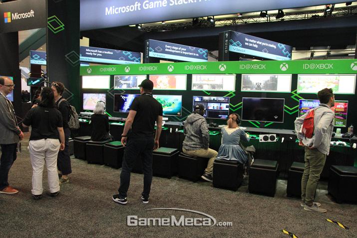 Xbox 관련 부스인데, 인디게임 부스랑 크게 다르지 않다 (사진: 게임메카 촬영)