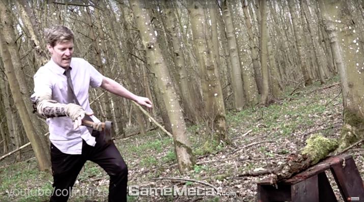 영국 유명 유튜버 콜린 퍼즈가 '세키로'에 등장하는 의수 무기 두 종을 직접 제작·시연했다 (사진: 콜린 퍼즈 세키로 의수 무기 영상 갈무리)