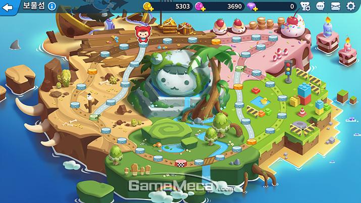 AI를 상대하는 싱글 플레이 모드 '보물섬' (사진: 게임메카 촬영)